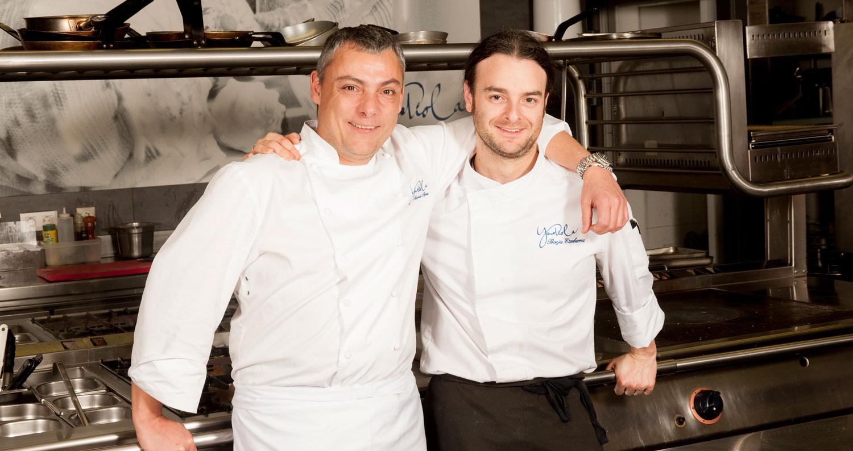 Ricardo Pérez y Borja Etxebarria del Restaurante Yandiola en Bilbao