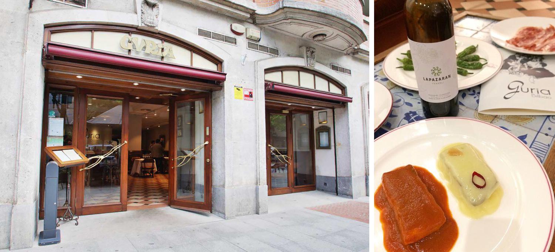 Menú Aste Nagusia 2017 en el Restaurante Guria de Bilbao