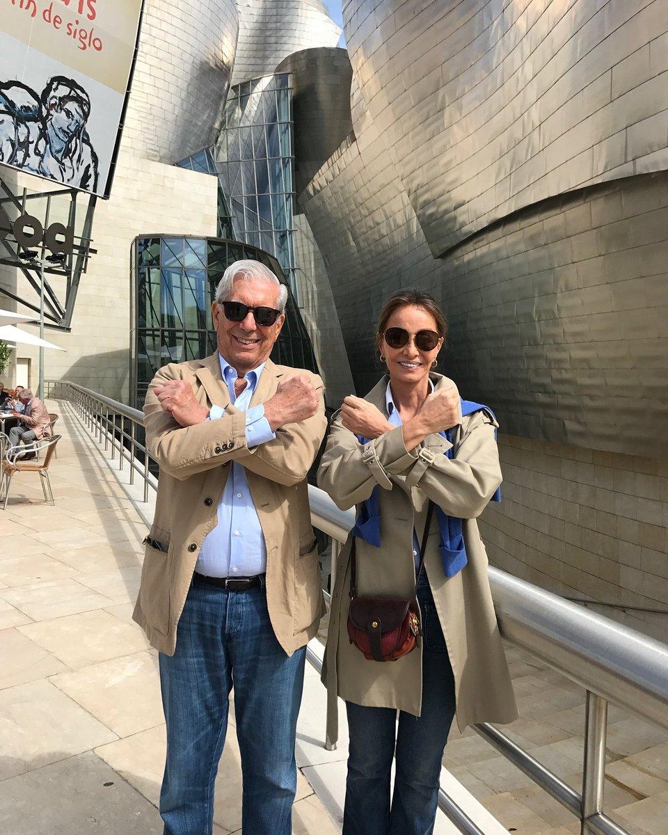 Isabel Preysler y Mario Vargas Llosa en Bilbao