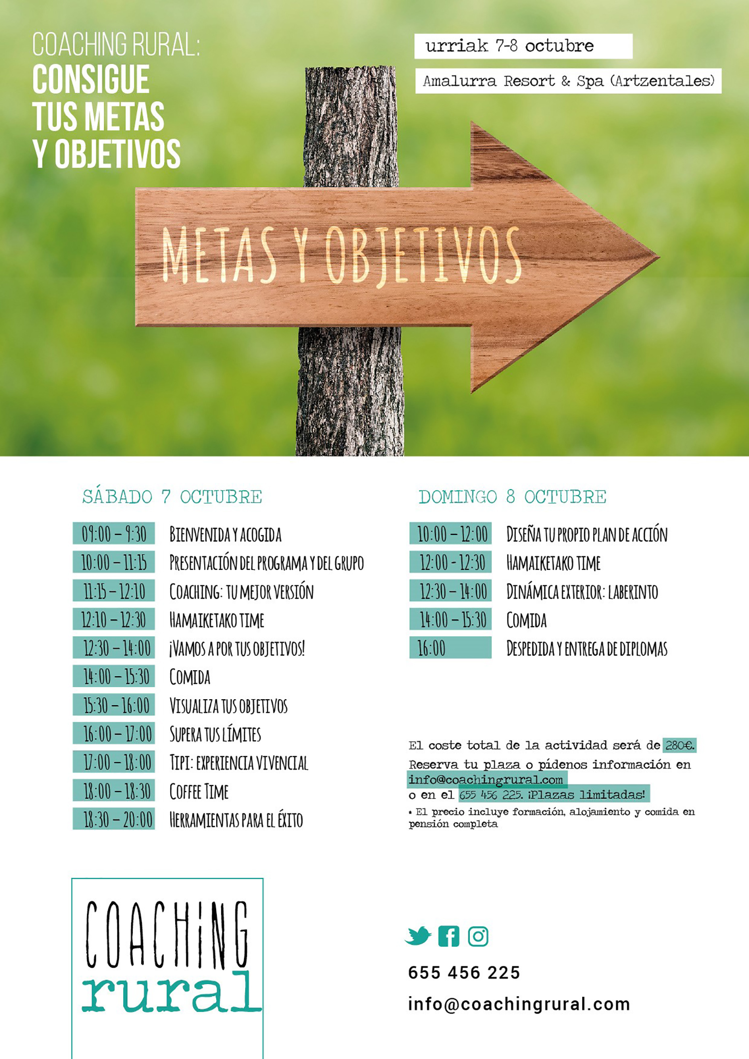 Taller de Metas y Objetivos con Coaching Rural