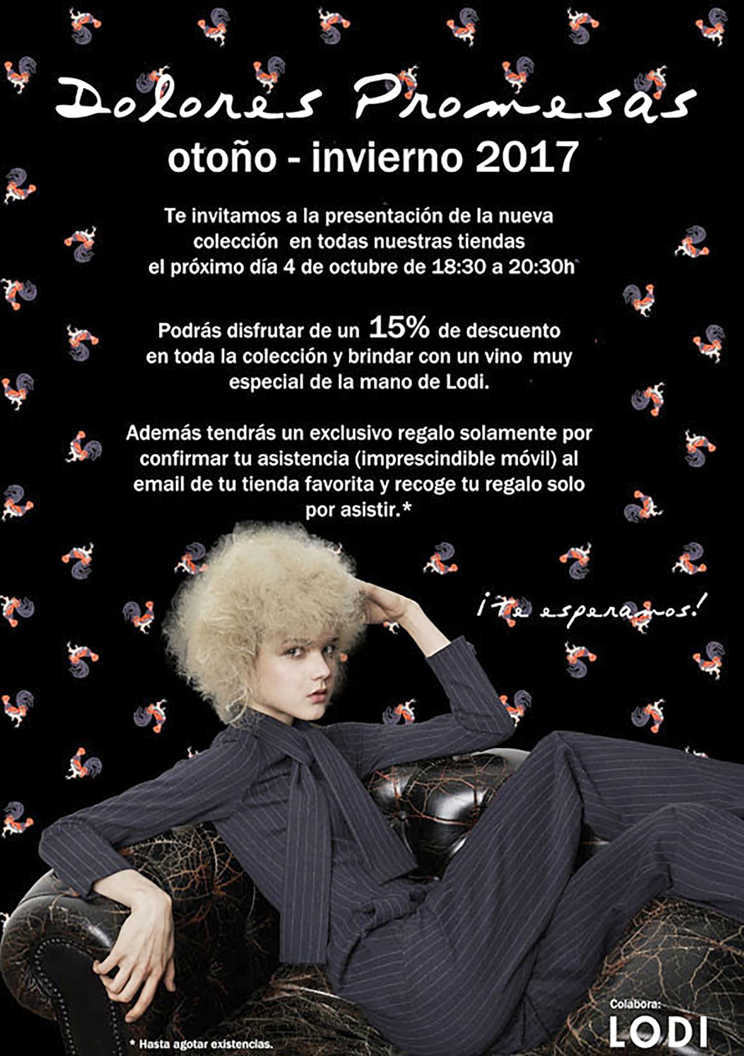 Presentación Colección Otoño Invierno 2017 Dolores Promesas