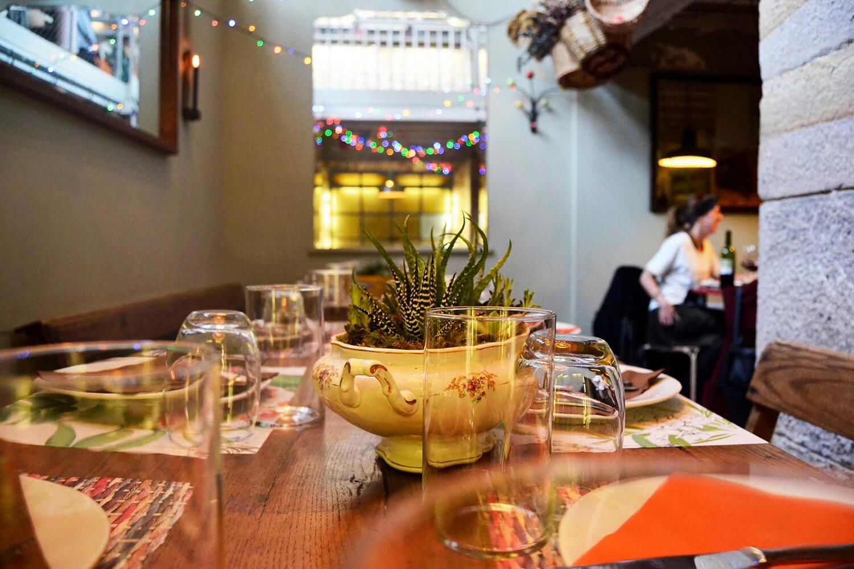 Detalle del Restaurante Zurima en Bilbao