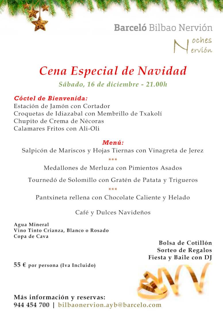Cena y Fiesta de Navidad en el Hotel Barceló Bilbao Nervión