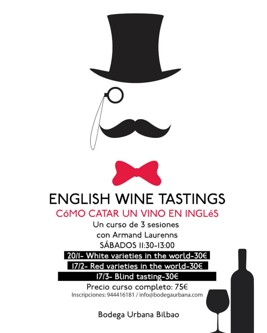 Catas de vino en inglés
