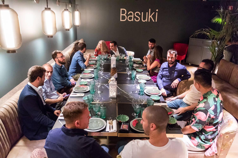 Evento gastronómico Basuki y ginebra Gin Mare Bilbao