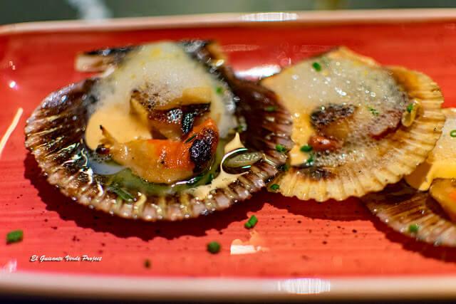 Zamburiñas, kimchi y aire de kalamanci Foto: www.guisanteverdeproject.com