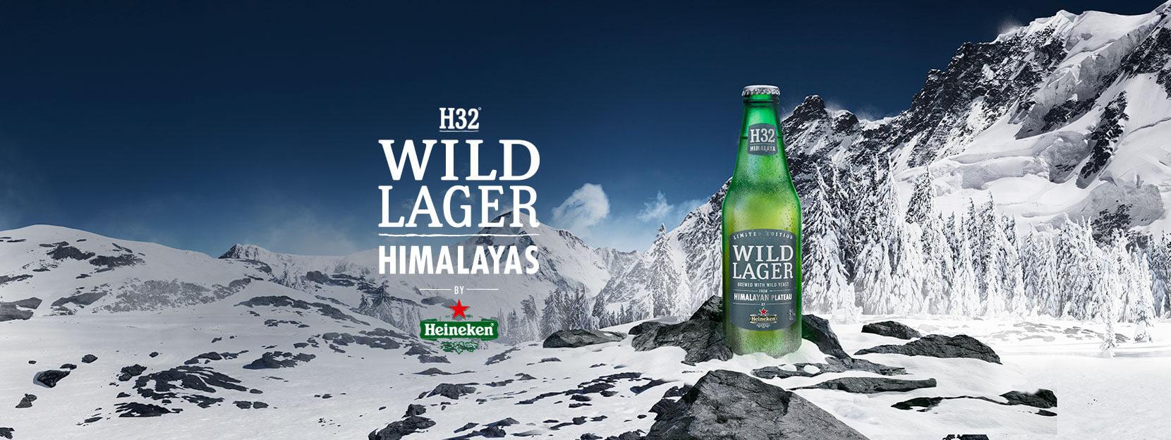 HEINEKEN® WILD LAGER HIMALAYAS Hecha con levadura salvaje del Himalaya.