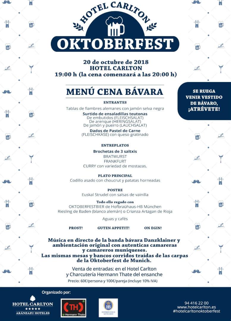 Fiesta de la Cerveza - Oktoberfest 2018 en el Hotel Carlton de Bilbao