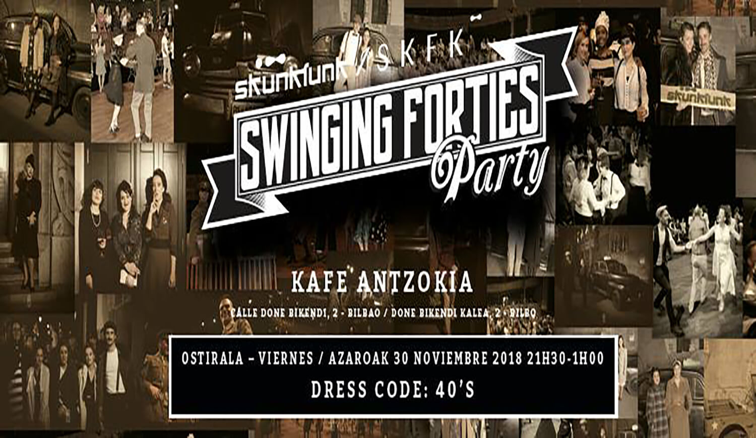 Swinging Forties Party Skunkfunk