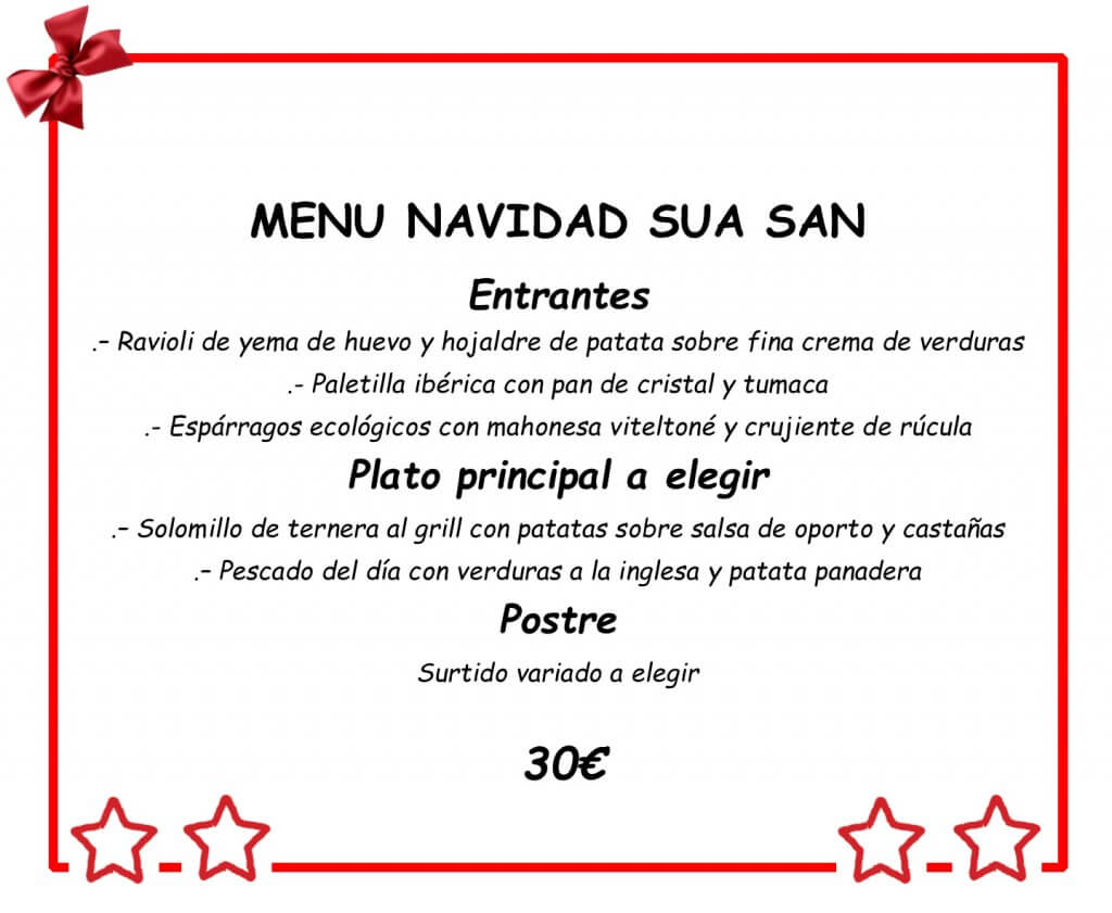 Menu Navidad Suasan Bilbao