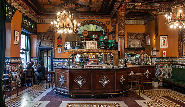 Menú de Navidad en el Café Iruña de Bilbao