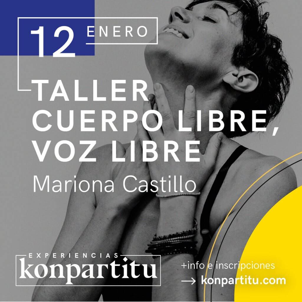 Taller Cuerpo Libre, Voz Libre. Mariona Castillo. En Konpartitu, Bilbao.