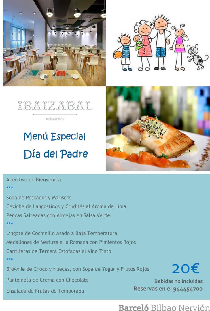 Menú Día del Padre 2019 Hotel Barceló Bilbao