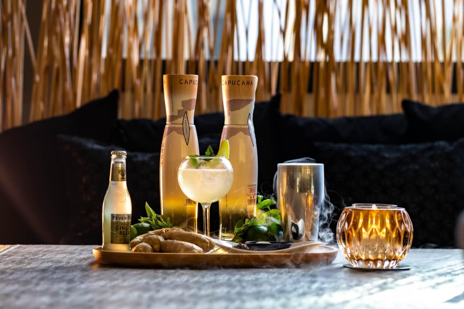 """ORIGEN """"Nuestra propuesta para la B.C.Route: CISCO, CachaçaCapucana, Fever-Tree Premium GingerBeer y clavo, exótico, brillante y sutil.inspirado en el estilo de vida Brasileiro, este cóctel te transportará a ritmo de samba a las playas soleadas de Río."""""""
