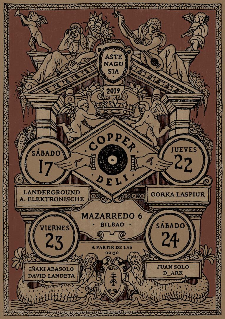 Programación DJs Aste Nagusia 2019 Copper Deli