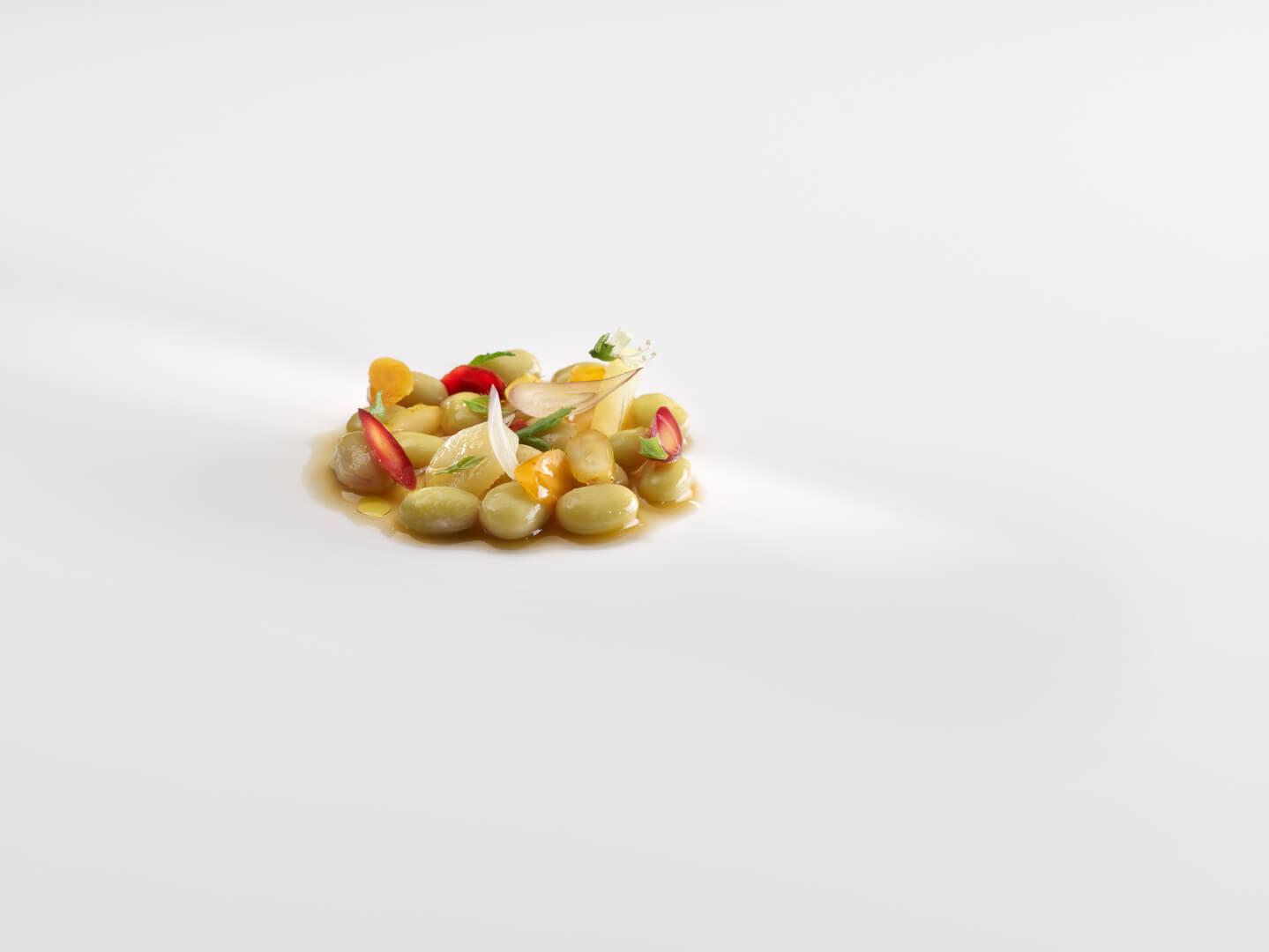 Pochas con verduras encurtidas (Foto: José Luis López de Zubiria)