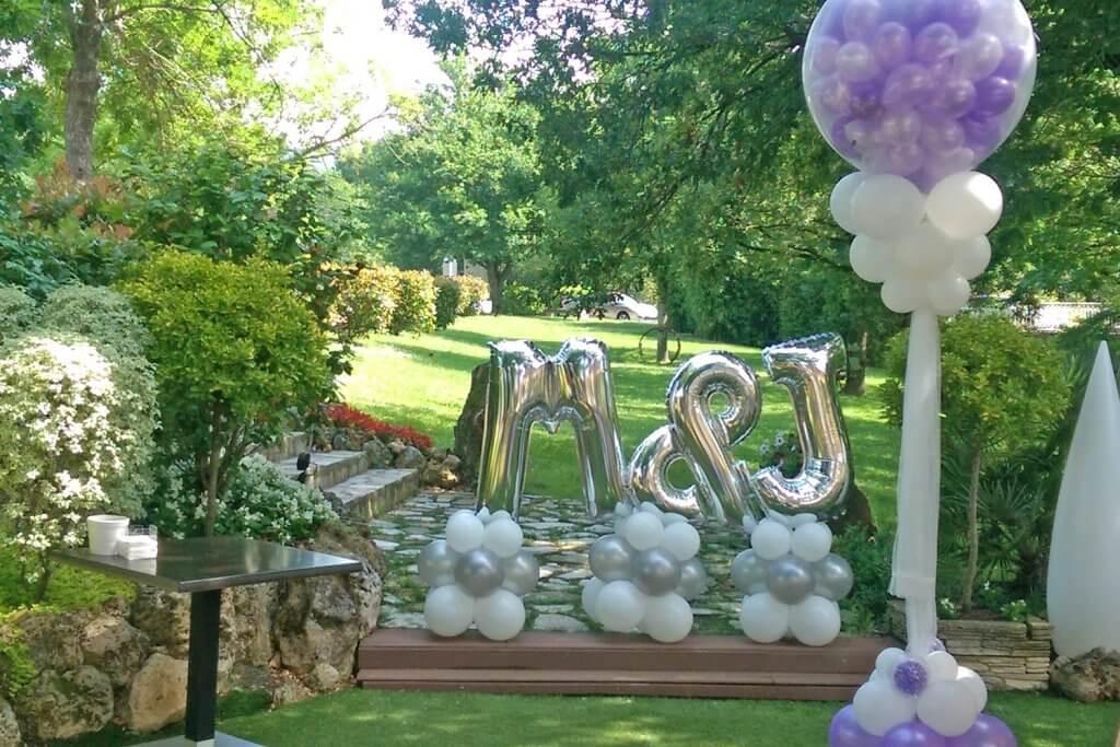 Globartist - Balloons decoration for events in Bilbao - Globartist decoración jardín