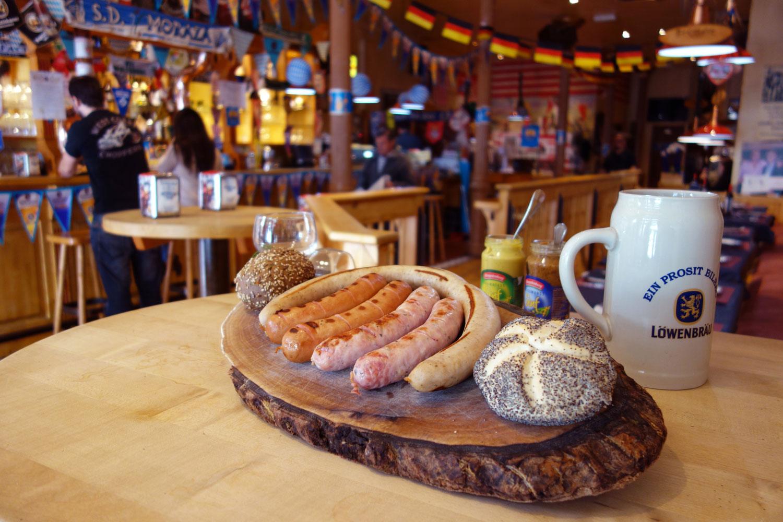 Salchichas de Thate y cerveza alemana
