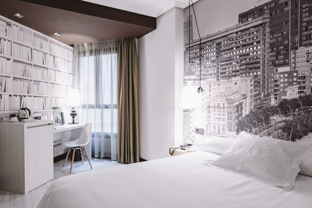 The Hotel Abando is located in the center of the city of Bilbao