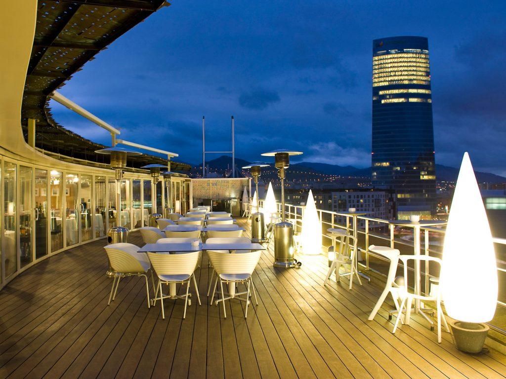 Terraza del Gran Hotel Domine Bilbao