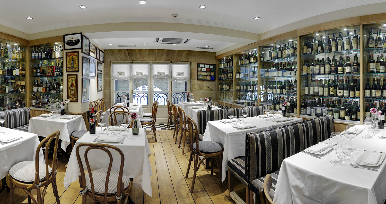 The Restaurant Victor Montes in the Old Part of Bilbao