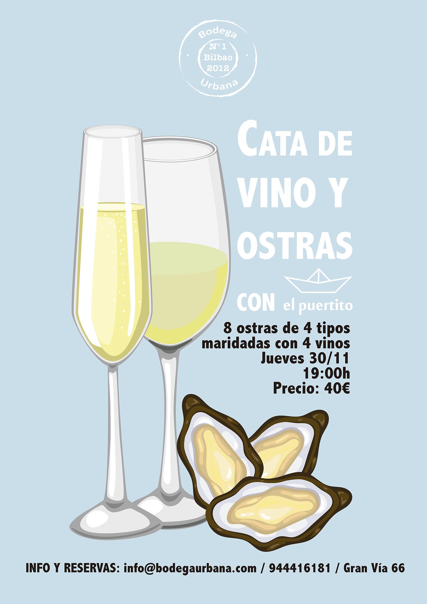 Cata de Vino y Ostras