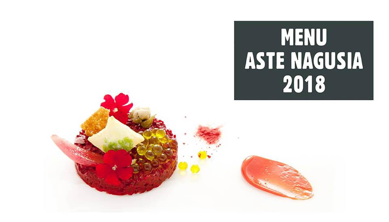 Menú Aste Nagusia 2018 Eneko Bilbao