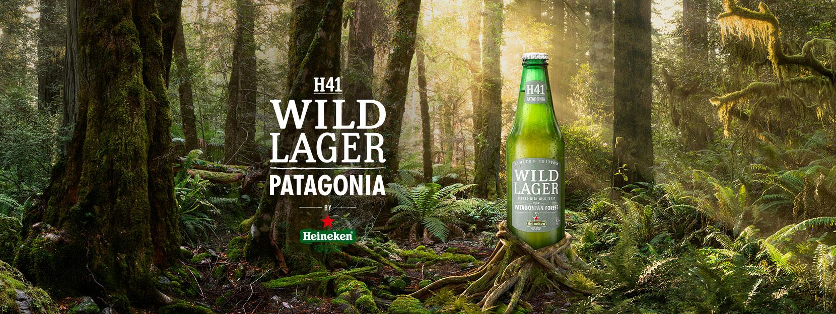 HEINEKEN® WILD LAGER PATAGONIA Hecha con levadura salvaje de la Patagonia.
