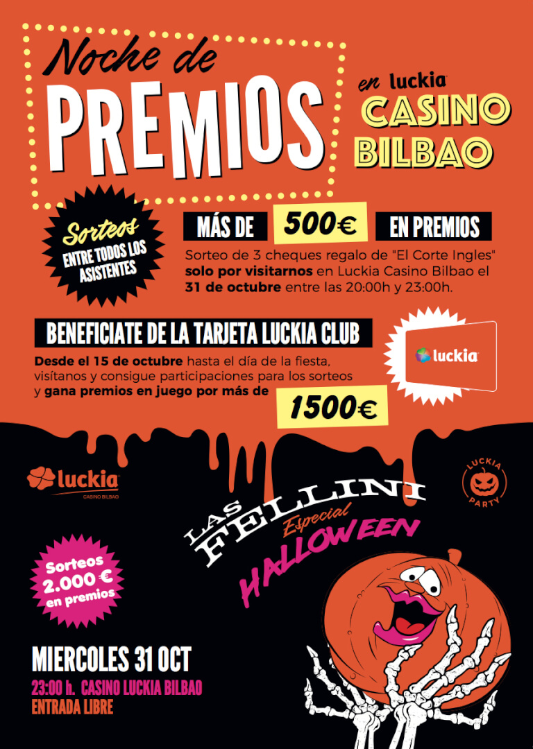 Cartel Halloween Casino Bilbao