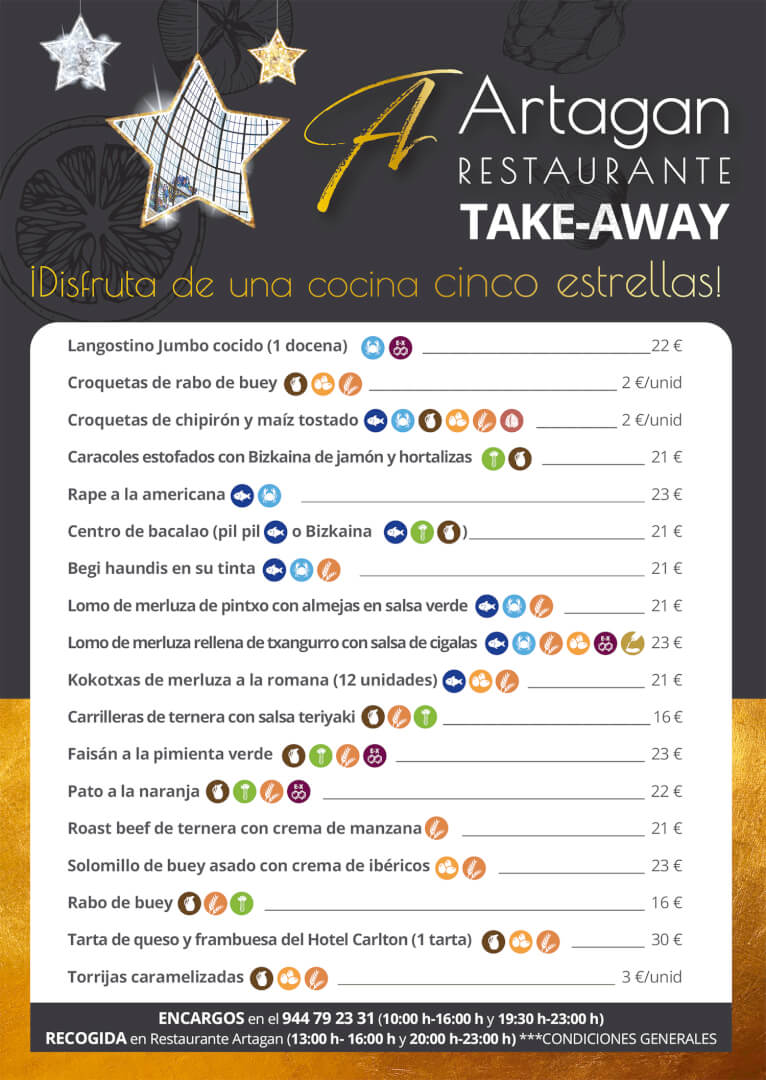 Restaurante Artagan de Bilbao - Take-Away Navidad
