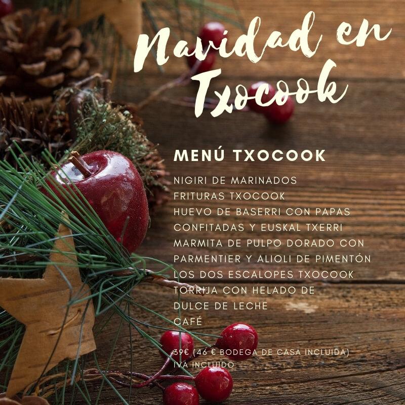 Menús de Navidad en Txocook