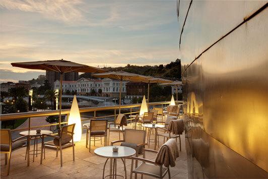 La exclusiva terraza del Bistró Guggenheim Bilbao