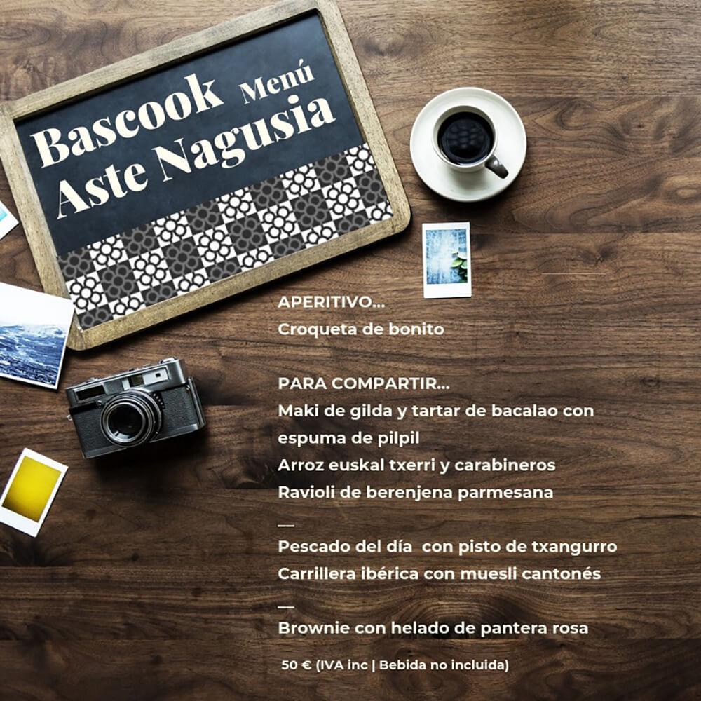 Bascook Menú Aste Nagusia 2019