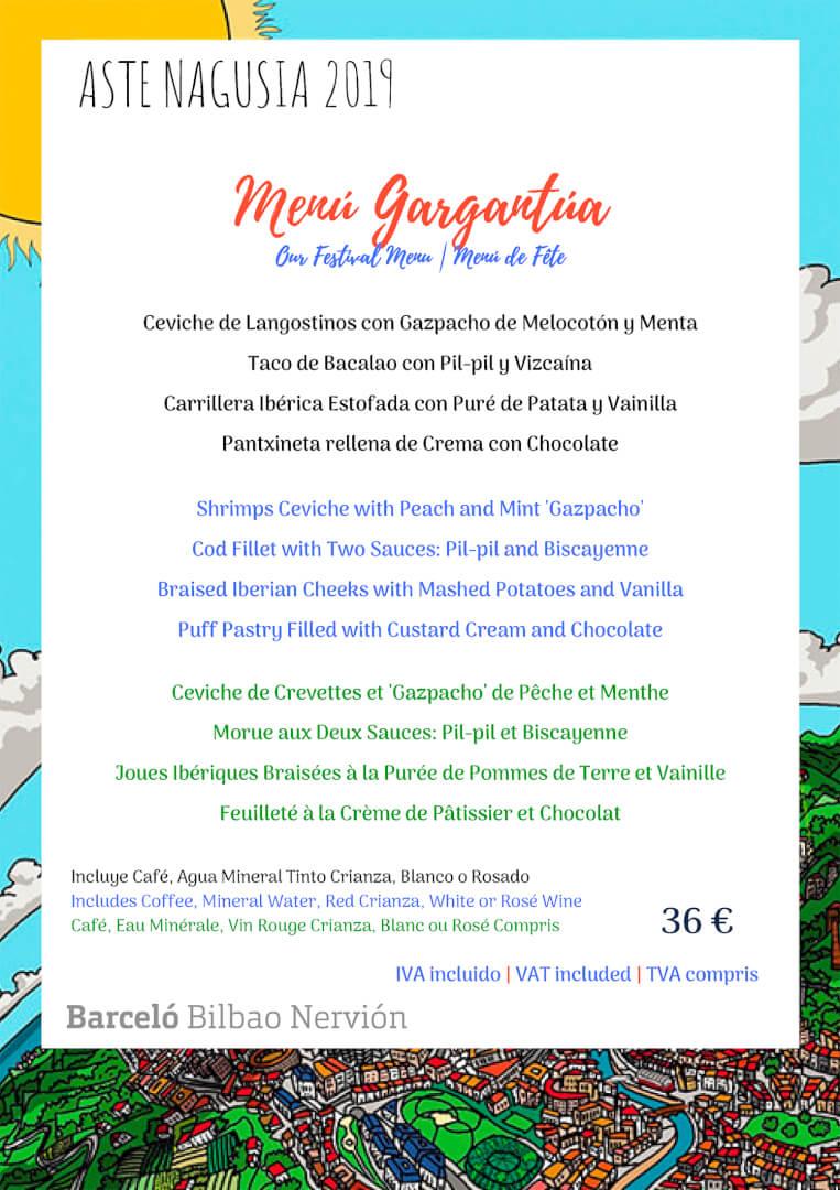 Aste Nagusia 2019 en el Restaurante Ibaizabal de Bilbao