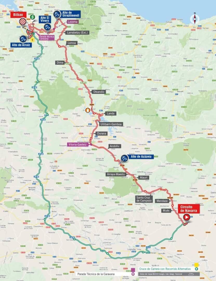 la Vuelta ciclista a España. Jueves 5 de Septiembre de 2019.