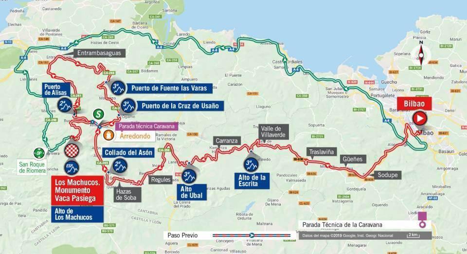 la Vuelta ciclista a España. Viernes 6 de Septiembre de 2019.
