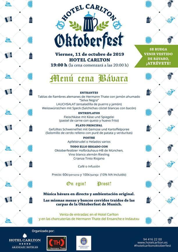 Oktoberfest 2019 en el Hotel Carlton de Bilbao.