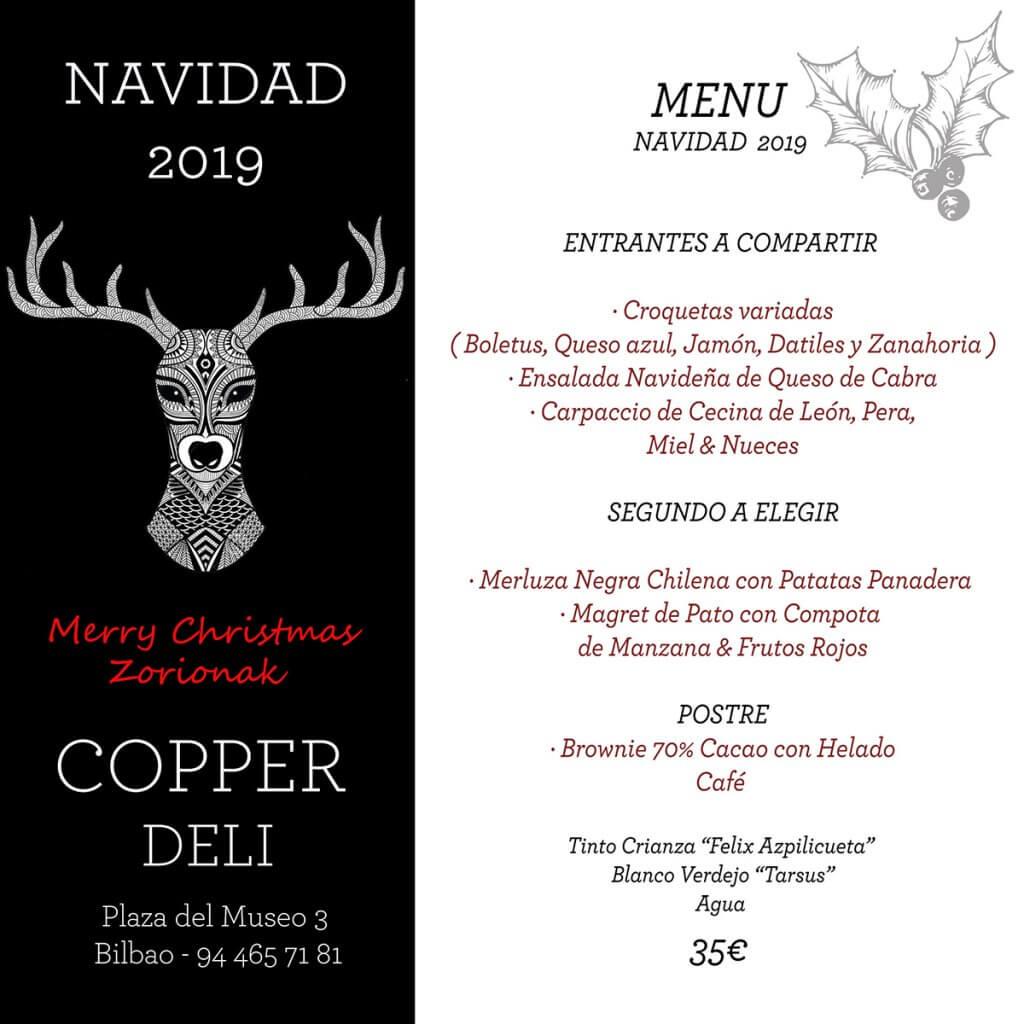 Menú de Navidad en Copper Deli Bilbao