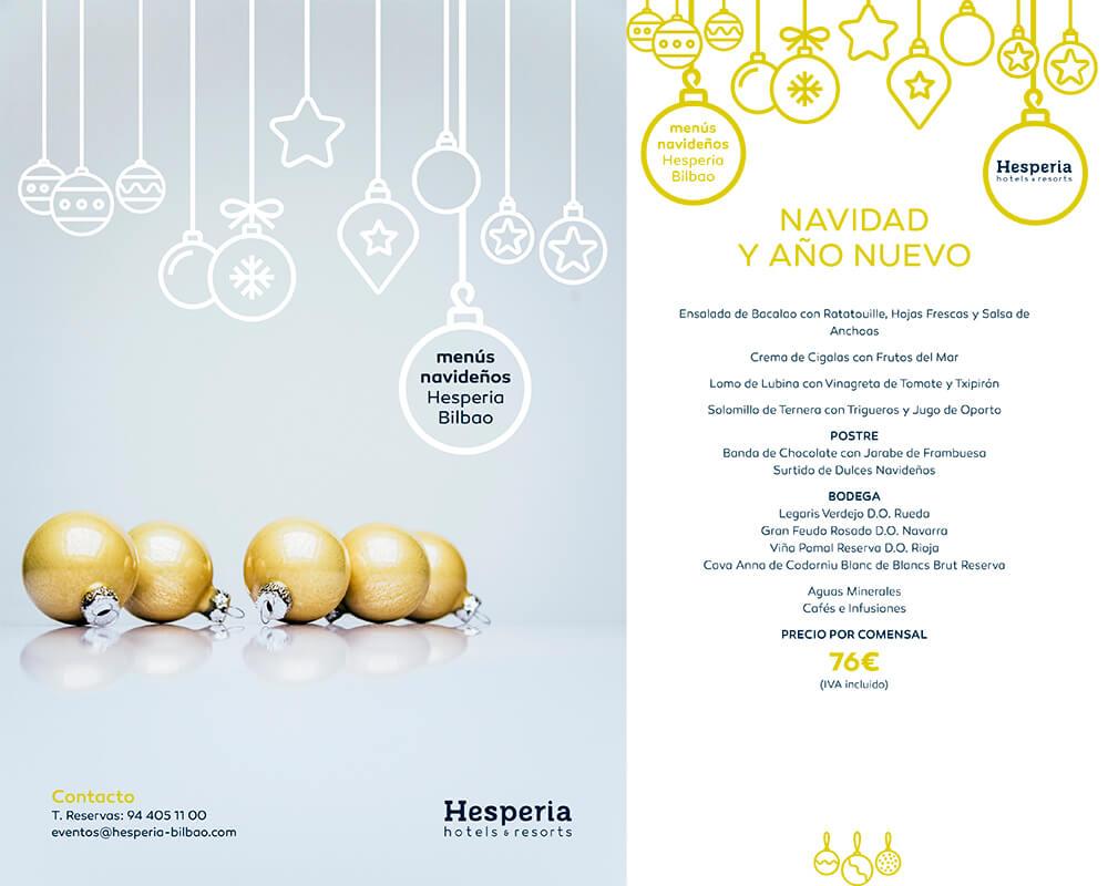 Menú de Navidad y Año Nuevo en el Hotel Hesperia Bilbao