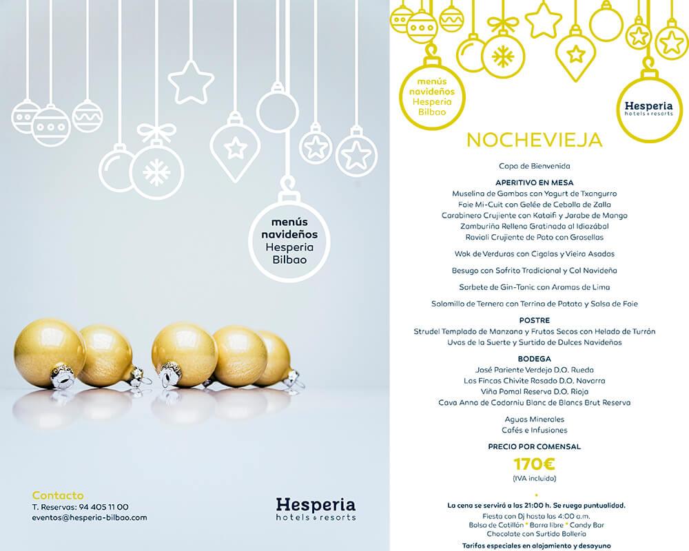 Menú de Nochevieja Hotel Hesperia Bilbao