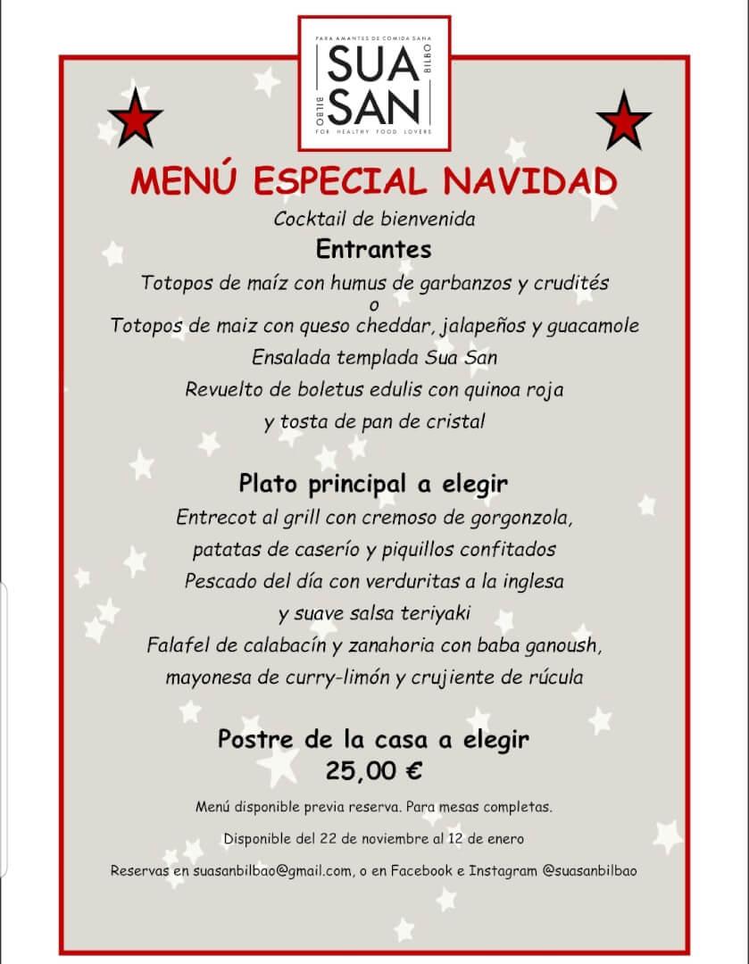 Menú de Navidad Suasan Bilbao
