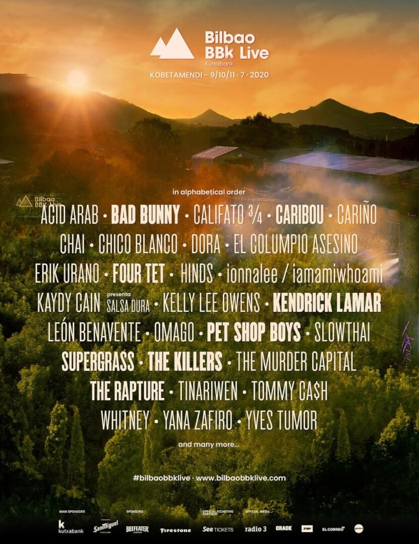 Primeros artistas confirmados del BBK Live 2020
