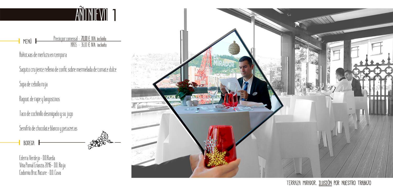 Año Nuevo - Menú en el Hotel Hesperia Zubialde de Bilbao