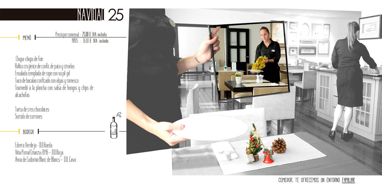 Navidad - Menú en el Hotel Hesperia Zubialde de Bilbao