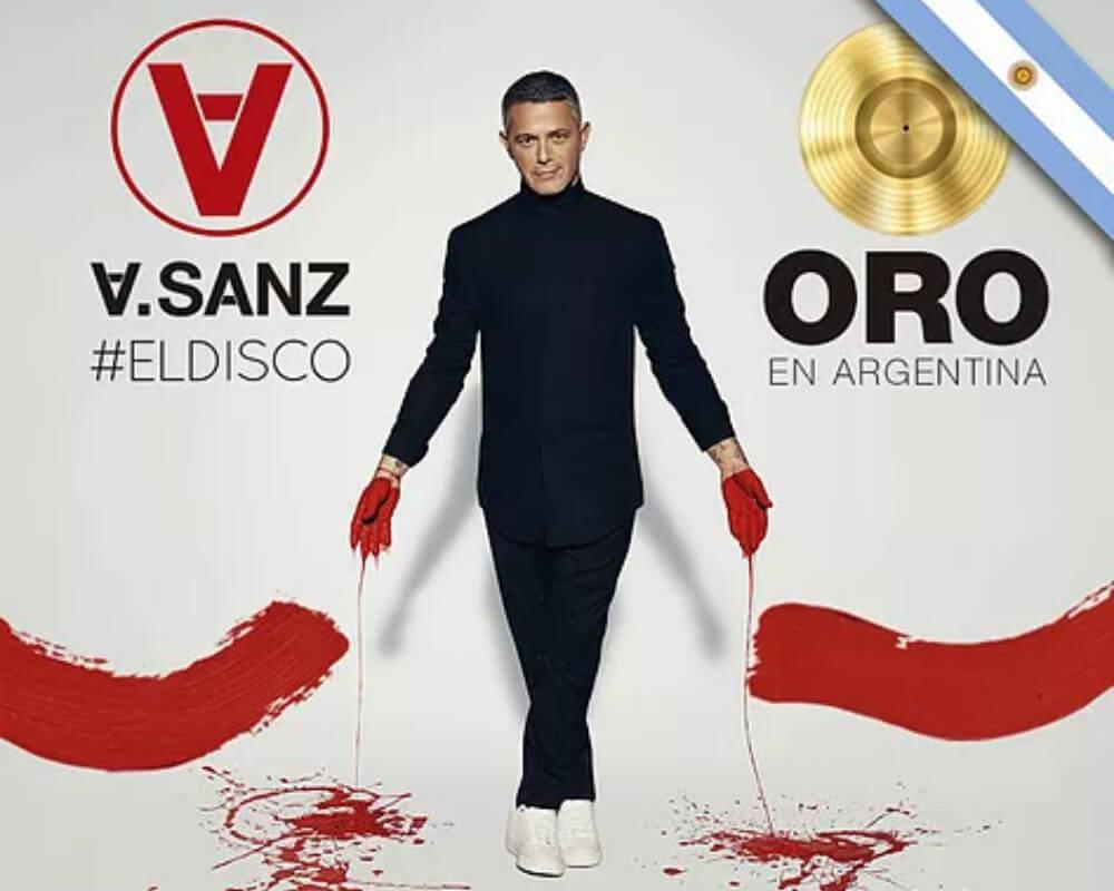 Alejandro Sanz disco de oro con #ElDisco