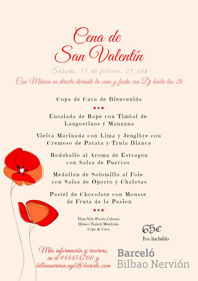 Cena de San Valentín en Bilbao