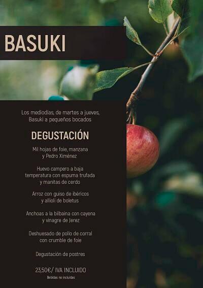 Menú Degustación en Basuki Bilbao