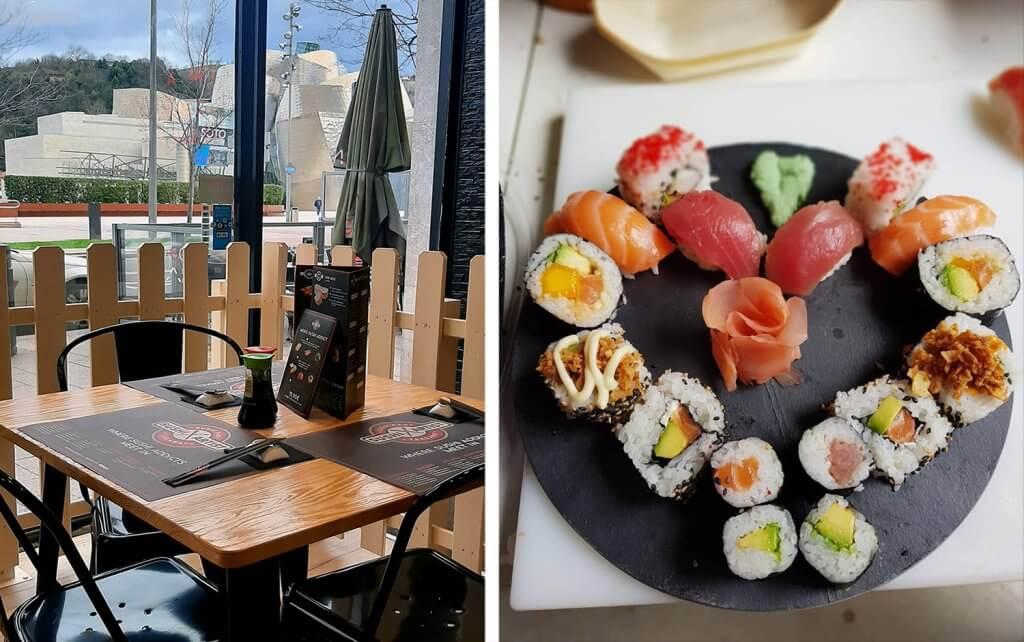 Nuevo Sushi Artist frente al Guggenheim de Bilbao