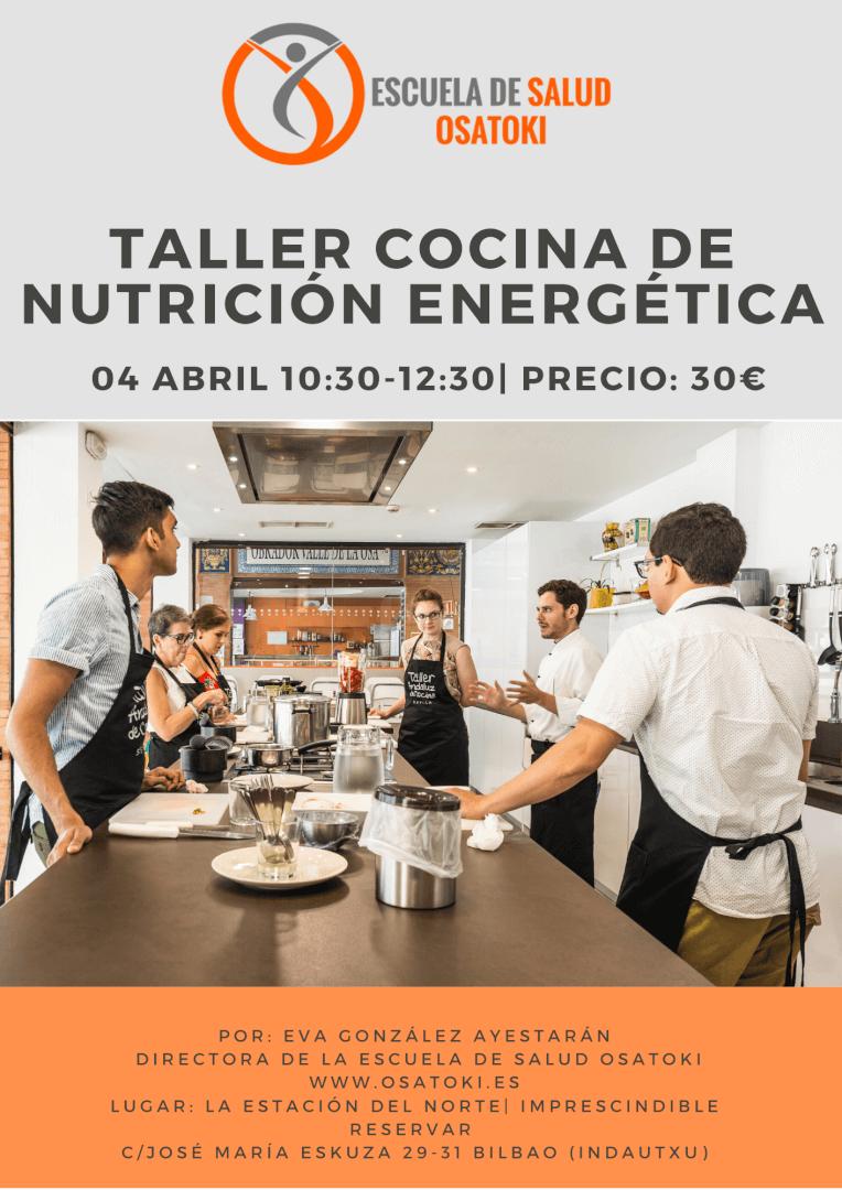 Taller cocina de nutrición energética, en Osatoki, Bilbao