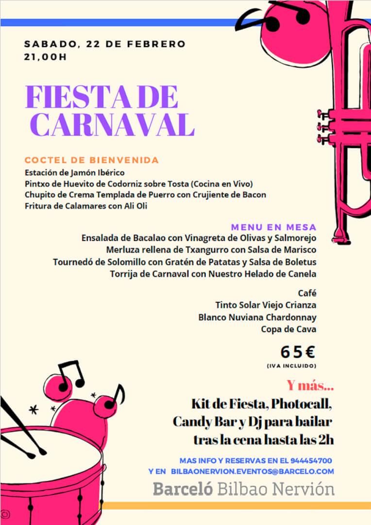 Fiesta de Carnaval en el Hotel Barceló Bilbao Nervión